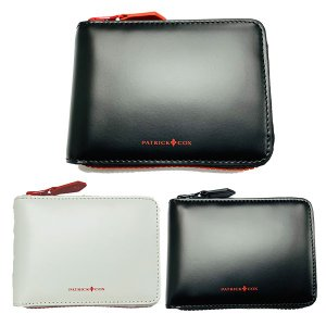 パトリックコックス 財布 メンズ 二つ折り 小銭入れ 牛革 ブラック ホワイト レッド PXMW9WS2|takeuchi-golf