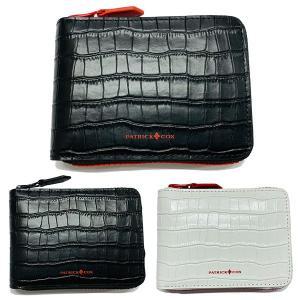 パトリックコックス 財布 メンズ 二つ折り 小銭入れ 牛革 ブラック ホワイト レッド PXMW9YS2|takeuchi-golf