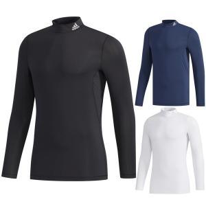 50%オフ アディダス ゴルフ インナーシャツ 長袖 メンズ シャツ インナー アンダーシャツ モックネック ゴルフウェア adidas 白 ホワイト 黒 ブラック GKI25|takeuchi-golf