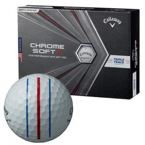 ゴルフボール キャロウェイ Callaway クロムソフトエックス CHROME SOFT X 1ダース 12球 メンズ レディース トリプル トラック 3ライン スリーライン 白 ホワイ|takeuchi-golf