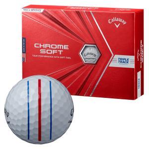 ゴルフボール キャロウェイ Callaway クロムソフト CHROME SOFT 1ダース 12球 メンズ レディース トリプル トラック 3ライン スリーライン 白 ホワイト|takeuchi-golf