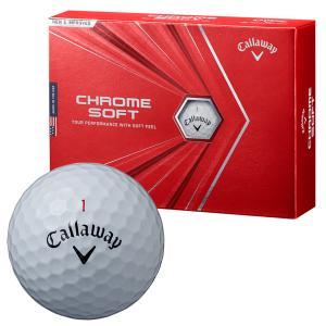 ゴルフボール キャロウェイ Callaway クロムソフト CHROME SOFT 1ダース 12球 メンズ レディース ツアーボール 無地 シンプル 白 ホワイト|takeuchi-golf