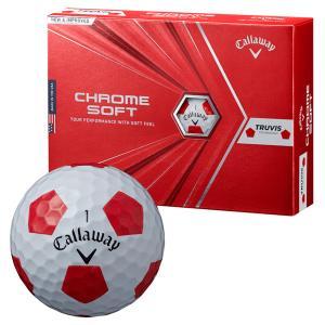 ゴルフボール キャロウェイ Callaway クロムソフト CHROME SOFT 1ダース 12球 メンズ レディース トゥルービス シンプル 白 ホワイト 赤 レッド|takeuchi-golf