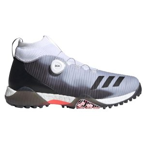アディダス ゴルフ シューズ コードカオス ボア 靴 メンズ ブースト BOA スパイクレス ゴルフシューズ ミッドカット 防水 adidas golf 灰色 グレー EPC16 FW4992 takeuchi-golf