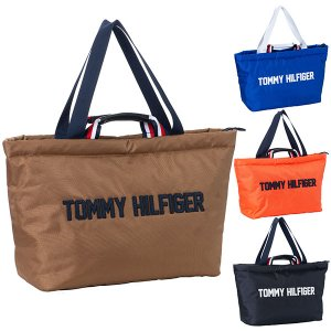 トミー ヒルフィガー ゴルフ トートバッグ メンズ レディース バッグ トート 肩掛け 手持ち 無地 ファスナー 大きめ ネイビー ベージュ オレンジ ブルー THMG0FB takeuchi-golf