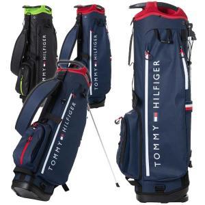 トミーヒルフィガー ゴルフ メンズ レディース スタンドバッグ 軽量 9.0型 2.5kg 4分割 ...