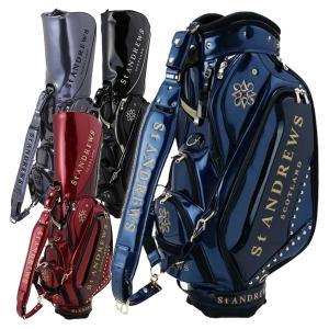 セントアンドリュース ゴルフ メンズ キャディバッグ 9.5型 約6kg 6口径 エナメル スタッズ 1980301 ブランド レア STアンドリュース|takeuchi-golf