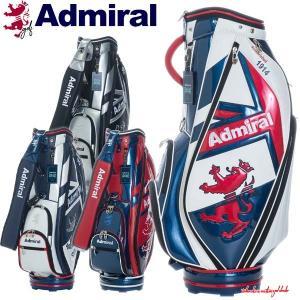 アドミラル ゴルフ キャディバッグ メンズ 9.0型 約3.8kg 5分割 レア ブランド ホワイト レッド ネイビー ブラック シルバー ADMG1AC5 Admiral Golf|takeuchi-golf