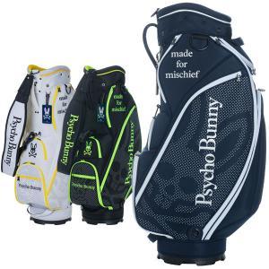 サイコバニー ゴルフ キャディバッグ メンズ 9.0型 約3.9kg 5分割 46インチ対応 ブランド レア ホワイト ネイビー ブラック PBMG1SC4 PSYCHO BUNNY takeuchi-golf