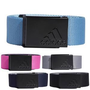 アディダス ゴルフ ベルト メンズ ゴルフベルト リバーシブル バックル シンプル adidas golf 黒 ブラック 紺 ネイビー グレー ピンク 青 ブルー GLA07|takeuchi-golf