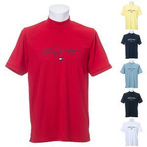 トミーヒルフィガー ゴルフ シャツ 半袖 メンズ モックシャツ ハイネック モックネック 吸水速乾 TOMMY HILFIGER GOLF 白 黒 赤 ブルーグレー 黄 紺 THMA133|takeuchi-golf