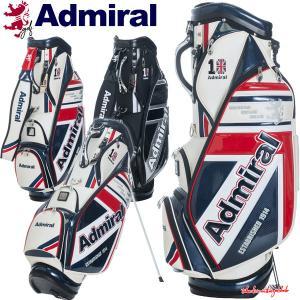 アドミラル ゴルフ スタンドバッグ スタンド キャディバッグ メンズ 9.0型 約4.1kg 6分割 10周年 限定 レア ブランド ホワイト ブラック ADMG1AC2 takeuchi-golf