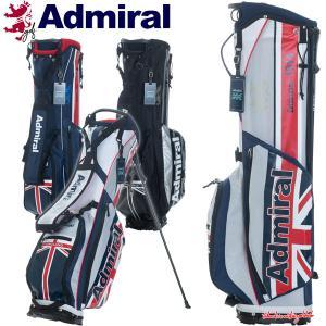アドミラル ゴルフ スタンドバッグ スタンド キャディバッグ メンズ レディース 超軽量 9.0型 約1.6kg 5分割 レア ブランド ネイビー ブラック ADMG1AC7|takeuchi-golf
