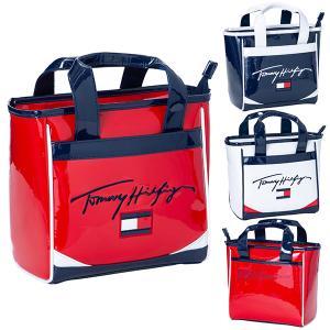 トミー ヒルフィガー ゴルフ ラウンドバッグ バッグ メンズ レディース ゴルフバッグ ファスナー ポケット TOMMY HILFIGER GOLF 無地 赤 紺 白 THMG1SBC|takeuchi-golf