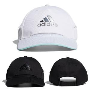 アディダス ゴルフ キャップ メンズ 帽子 ベースボールキャップ サイズ調節 カーブバイザー クーリングキャップ adidas golf 黒 ブラック 白 ホワイト 22929|takeuchi-golf