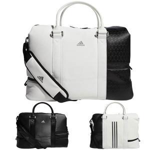 アディダス ゴルフ ボストンバッグ メンズ レディース バッグ 鞄 シューズ入れ ジップポケット ショルダーストラップ adidas golf 黒 ブラック 白 ホワイト 2315 takeuchi-golf