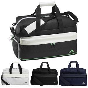 アディダス ゴルフ ダッフルバッグ メンズ レディース バッグ 鞄 ジップポケット ショルダーストラップ adidas golf 黒 ブラック 白 ホワイト 紺 ネイビー 23191 takeuchi-golf