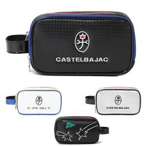 カステルバジャック ゴルフ ポーチ バッグ セカンドポーチ メンズ レディース ユニセックス 流れ星 白 ホワイト 黒 ブラック シルバー 銀 23803304 CASTELBAJAC takeuchi-golf