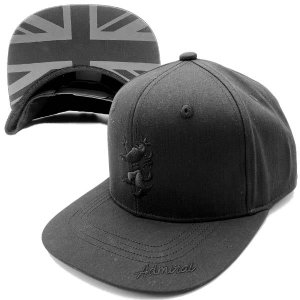 アドミラル ゴルフ キャップ メンズ 帽子 別注限定 ロゴ フラットバイザー ユニオンジャック サイズ調節 ベースボールキャップ 黒 ADMB001T|takeuchi-golf