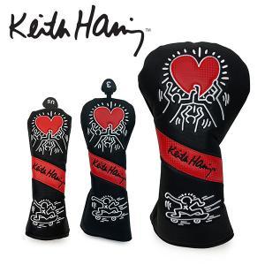 キースヘリング ゴルフ ヘッドカバー メンズ レディース ドライバー フェアウェイウッド ユーティリティ DR FW UT 番手 黒 ブラック KHHC-07 Keith Haring Golf|takeuchi-golf