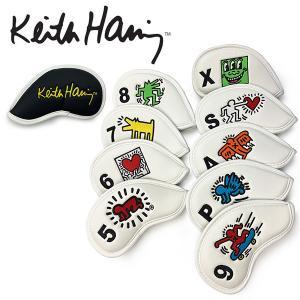 キースヘリング ゴルフ アイアンカバー セット メンズ レディース ヘッドカバー 9個セット おしゃれ かわいい レア 白 ホワイト KHIC-01 Keith Haring Golf|takeuchi-golf