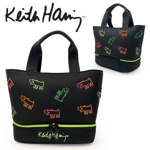 キースヘリング ゴルフ ラウンドバッグ メンズ レディース バッグ 保冷 保温 鞄 ラウンドバック カートバッグ 無地 黒 ブラック KHRB-06 Keith Haring Golf|takeuchi-golf