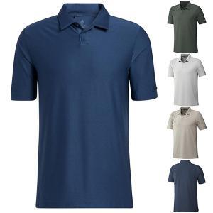 30%オフ アディダス ゴルフ シャツ 半袖 ポロシャツ メンズ PRIMEGREEN ストレッチ ゴルフウェア 紫外線カット adidas 白 ホワイト ブラウン ネイビー グリーン takeuchi-golf
