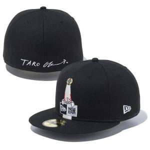 ニューエラ キャップ 帽子 コラボ メンズ レディース コラボキャップ 岡本太郎 太陽の塔 59FIFTY NEW ERA ベースボールキャップ シール フラットバイザー 126538|takeuchi-golf