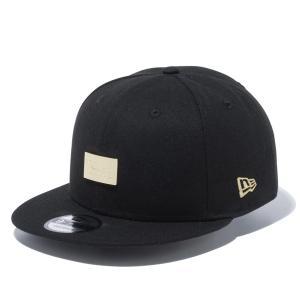 ニューエラ キャップ 帽子 メンズ レディース メタルプレート 9FIFTY 黒 NEW ERA シール アジャスタブル サイズ調節 フラットバイザー スナップバック 12654361|takeuchi-golf
