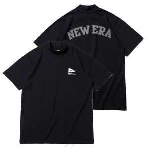 ニューエラ ゴルフ シャツ 半袖 メンズ レディース Tシャツ ミドルネック 鹿の子 吸汗速乾 紫外線カット 通気性 NEW ERA 無地 紺 ネイビー 春 夏 秋 12674296|takeuchi-golf