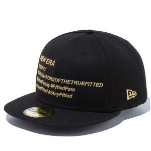 ニューエラ キャップ 帽子 メンズ レディース ハッシュタグ 59FIFTY 無地 黒 ブラック 金 NEW ERA シール ベースボールキャップ フラットバイザー 12836104|takeuchi-golf