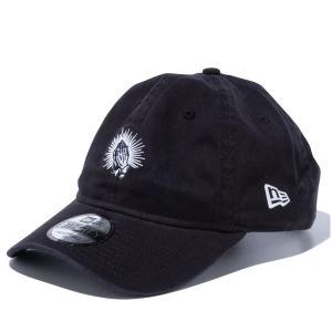 ニューエラ キャップ 帽子 メンズ レディース プレイハンド ウォッシュ加工 9THIRTY 黒 NEW ERA シール クロスストラップ サイズ調節 カーブドバイザー 12836064|takeuchi-golf