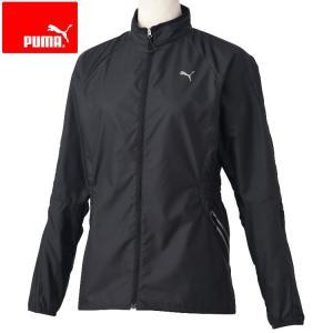 ランニングウェア レディース トップス ジップアップ プーマ 暖か 軽量 ジャケット 黒 S|takeuchisportspro