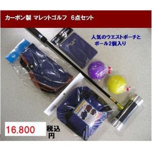 マレットゴルフ 用品 Aセット 6点 青 カーボン製|takeuchisportspro