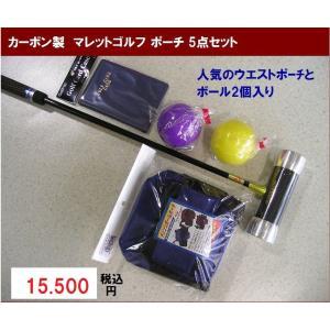 マレットゴルフ 用品 Bセット 5点 青 カーボン製|takeuchisportspro