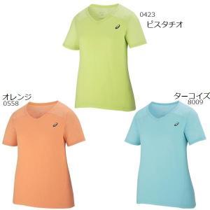 スポーツブランド アウトレット Tシャツ レディース 半袖 アシックス V首|takeuchisportspro