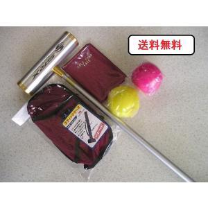 マレットゴルフ 用品 セット 5点 赤 送料無料|takeuchisportspro