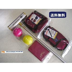 マレットゴルフ 用品 セット 赤 6点 送料無料|takeuchisportspro