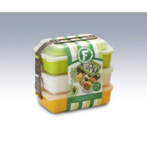 タケヤ メーカー公式 弁当箱 フレンズランチ 3段セット オリーブ 行楽用 TAKEYA takeya-official