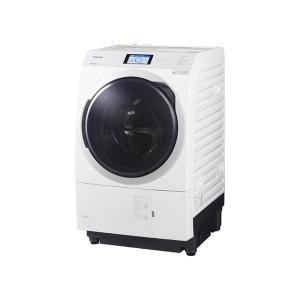基本設置無料 東京23区近郊限定配送 パナソニック ななめドラム洗濯乾燥機 NA-VX900BL-W 11kg 左開き クリスタルホワイトの画像