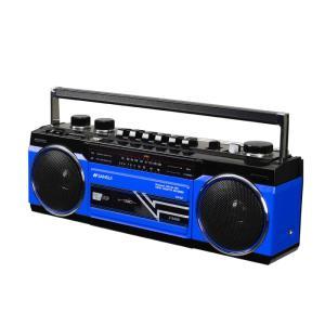 (送料無料)SANSUI/サンスイ Bluetooth搭載ステレオラジオカセット SCR-B2 BL ブルー SD・USBメモリーのMP3再生|takeyanet|02