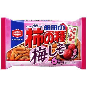 ■亀田製菓 柿の種 梅しそ 6袋入り|takeyanet