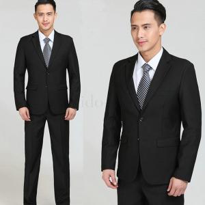 リクルートスーツ メンズ 2ツボタン ビジネススーツ 就活 スリム 標準ゆったり 冠婚葬祭 礼服 ブ...