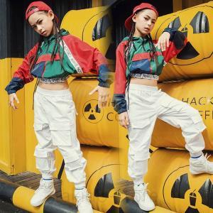 ダンス衣装 ヒップホップ ダンス 衣装 キッズ HIPHOP セットアップ 子供 女の子 トップス パンツ ジャズダンス ステージ衣装 練習着 体操服