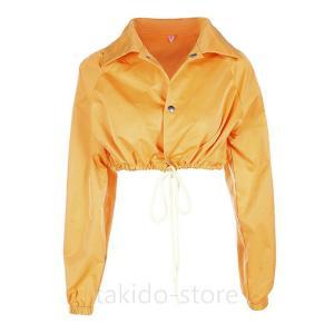 ショート丈ジャケット 黄色 上着 長袖 キッズ 子供服 ダンス 衣装 ヒップホップ サイズ120 1...