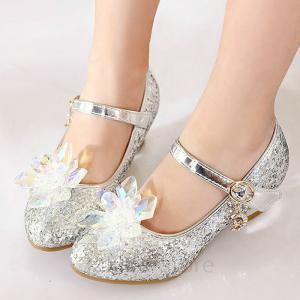 フォーマル 靴 女の子 フォーマルシューズ キッズ シューズ 子供 靴 キラキラ シルバー ピアノ発表会 靴 女の子 子供靴 入学式 結婚式の画像