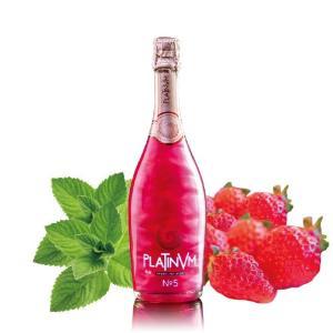 レッド プラチナム フレグランス ストロベリー&ミント  No.5 750ml スペイン産ラメ入りスパークリングワイン|takihan-1