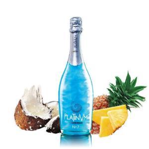 ブルー プラチナム フレグランス パイナップル&ココナッツ No.7 750ml スペイン産ラメ入りスパークリングワイン|takihan-1