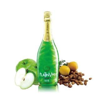 グリーン プラチナム フレグランス アップル&アマレット No.8 750ml×2本 スペイン産ラメ入りスパークリングワイン|takihan-1