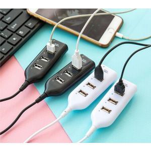 使いやすいタップタイプの4ポートUSBハブ 約55cmケーブルタイプ ACアダプタを使用しないバスパワーモード専用タイプ パソコン周辺機器|takishohin